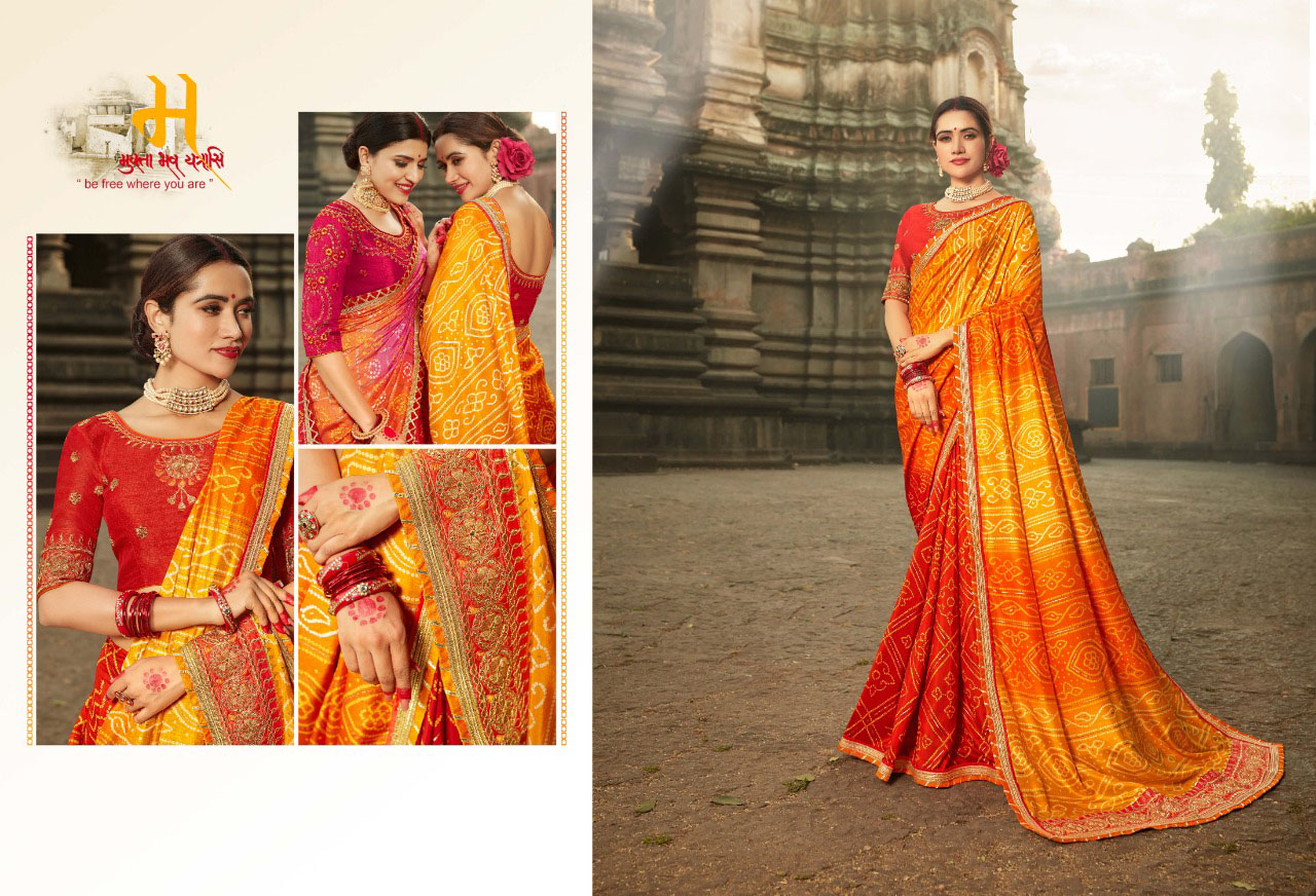 PARTY-WEAR-INDIAN SILK SAREE - BT-SR-40006 - $59.99