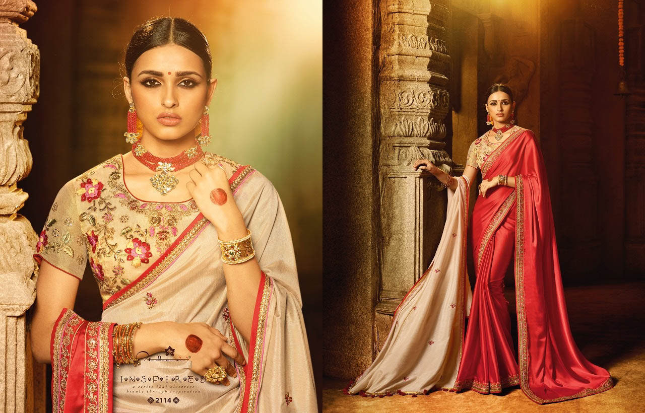 PARTY WEAR INDIAN SILK SAREE - BT-SR5484 - $109.99