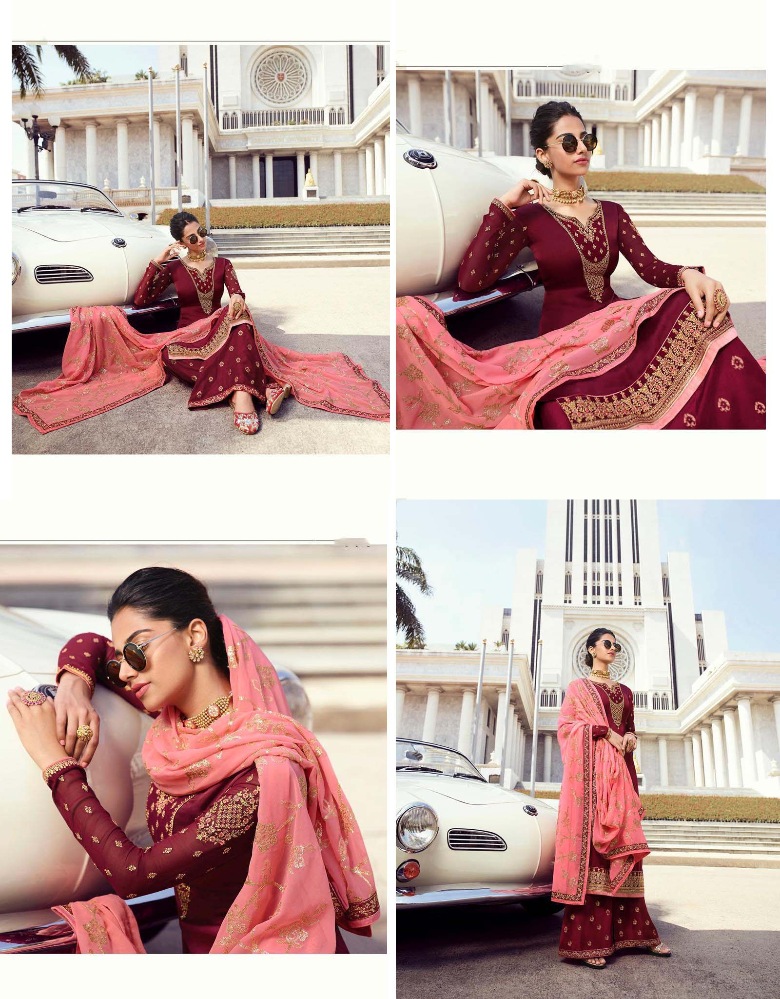 DESIGNER INDIAN SALWAR KAMEEZ - BT-SK-R-30199-L - $109.99