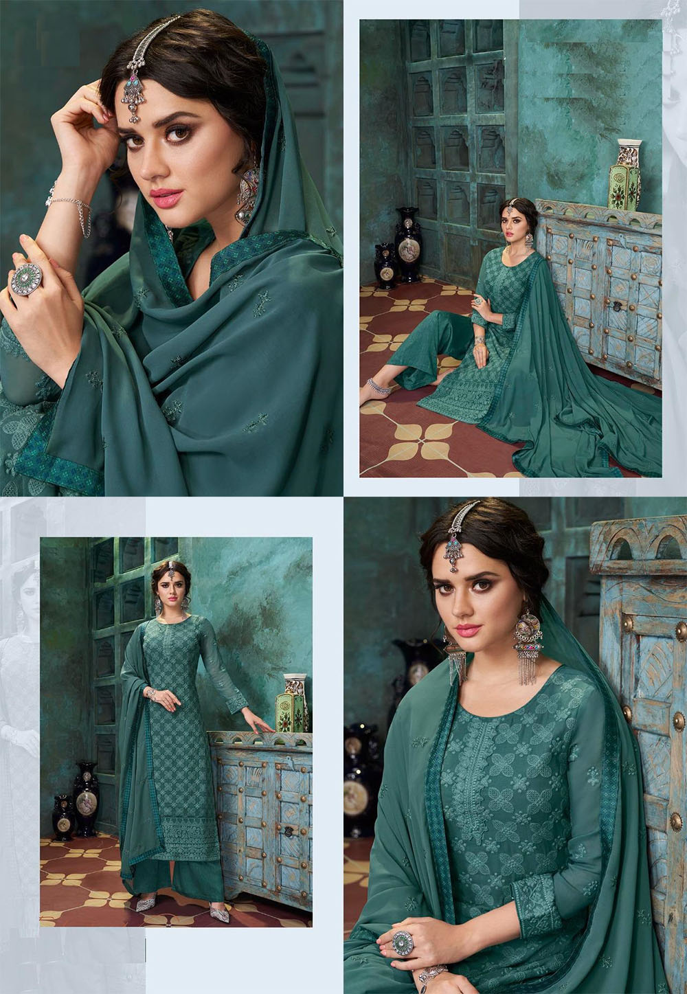 DESIGNER INDIAN SALWAR KAMEEZ - BT-SK-R-30313 - $69.99
