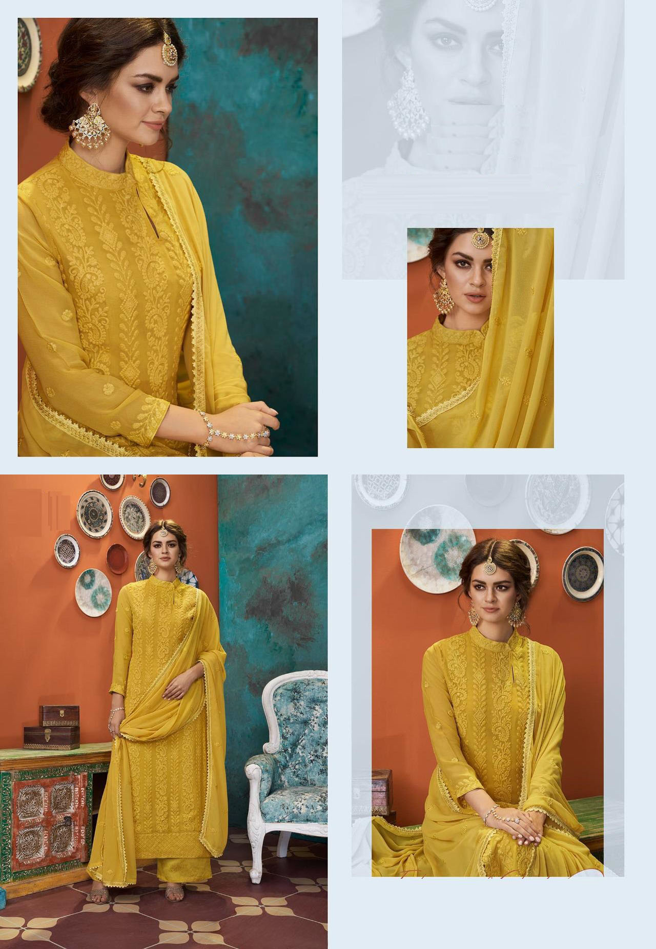 DESIGNER INDIAN SALWAR KAMEEZ - BT-SK-R-30316 - $69.99
