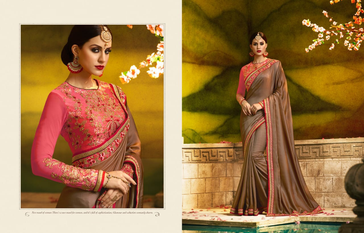 PARTY WEAR INDIAN SILK SAREE - BT-SR-40072 - $114.99