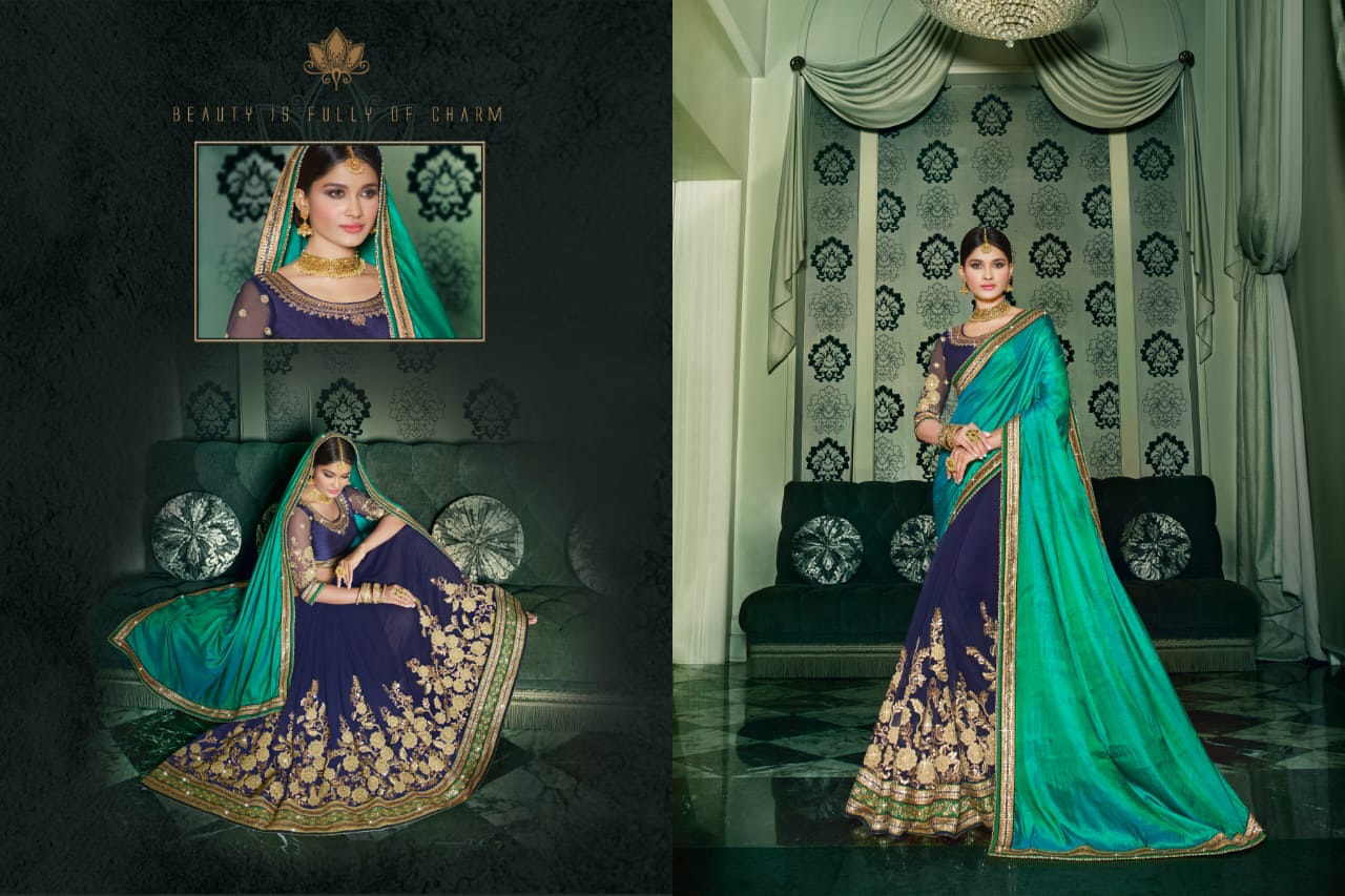 PARTY WEAR INDIAN SILK SAREE - BT-SR-40118 - $99.99