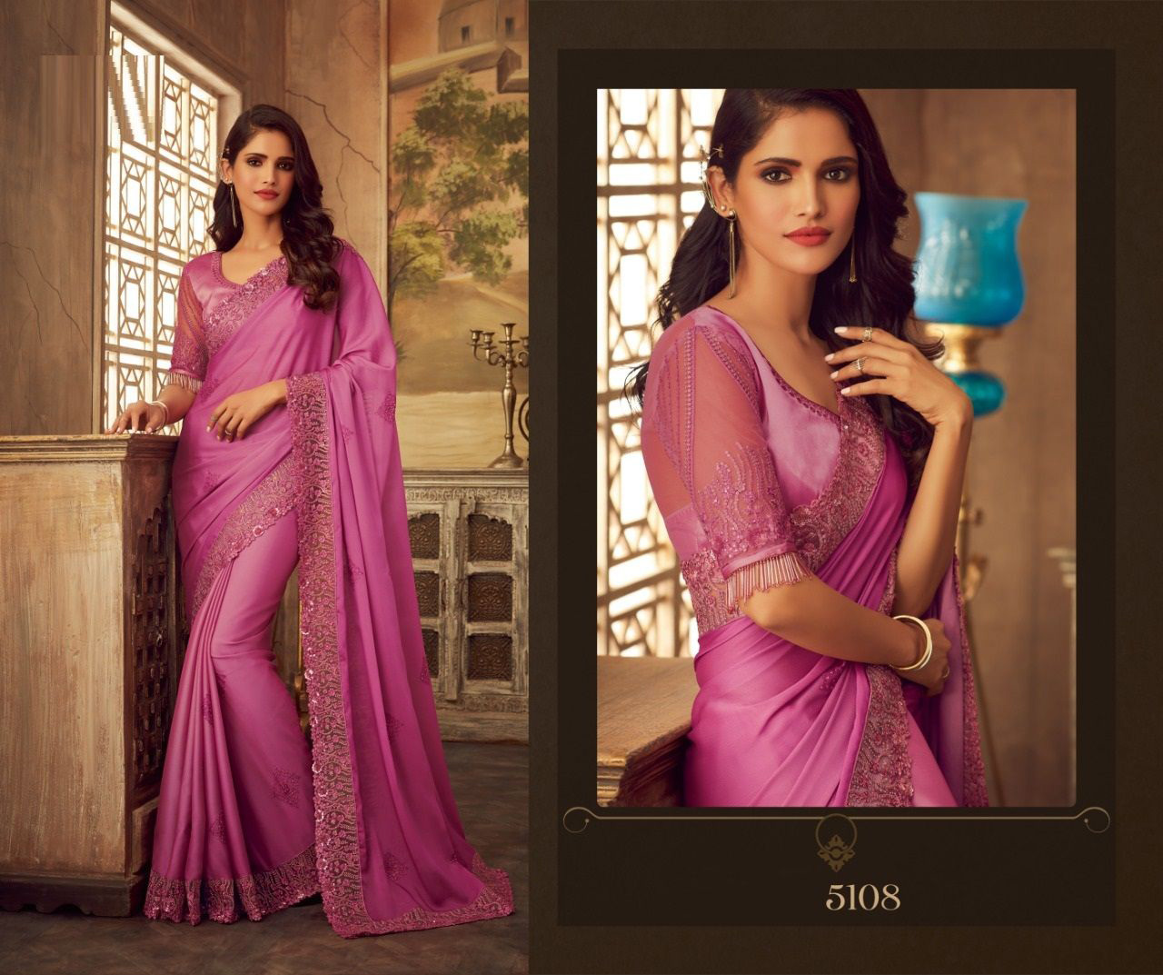 PARTY WEAR INDIAN SILK SAREE - BT-SR-40328 - $119.99