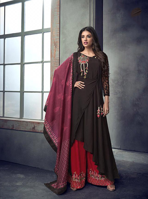 DESIGNER INDIAN SALWAR KAMEEZ - BT-SK-R-3981A