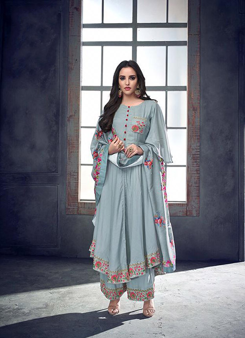 DESIGNER INDIAN SALWAR KAMEEZ - BT-SK-R-3981F