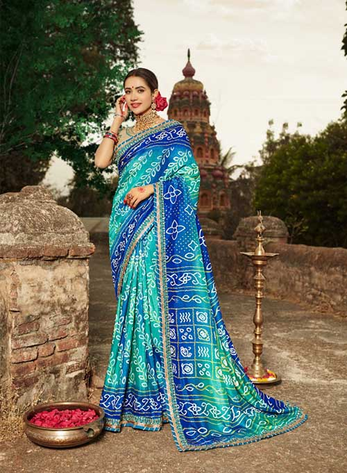 PARTY-WEAR-INDIAN SILK SAREE - BT-SR-40005