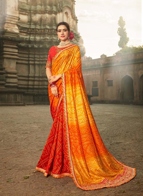 PARTY-WEAR-INDIAN SILK SAREE - BT-SR-40006