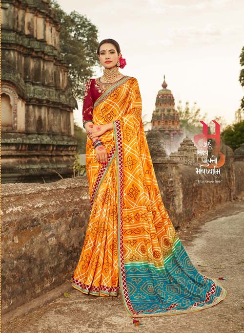 PARTY-WEAR-INDIAN SILK SAREE - BT-SR-40007