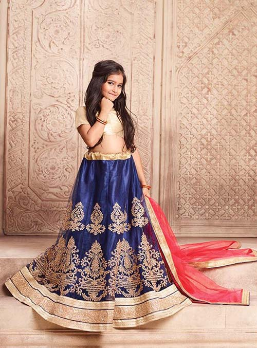 BEAUTIFUL INDIAN KIDS LEHENGA CHOLI - BT-LH-R-4182