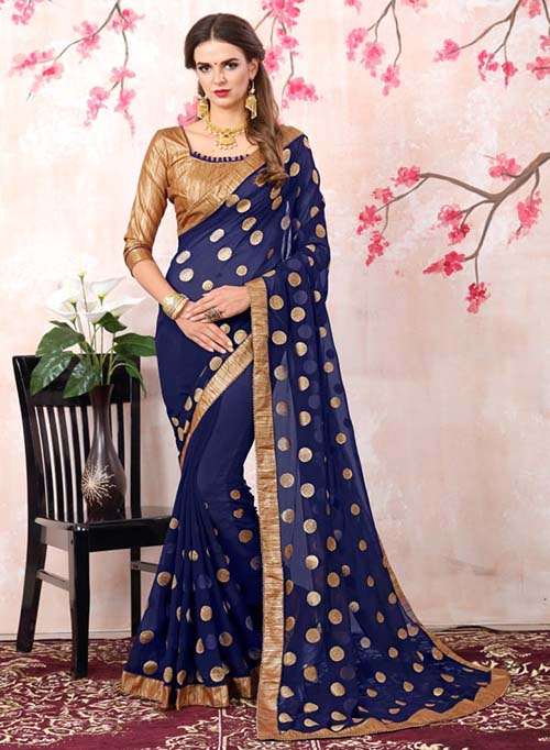 PARTY WEAR INDIAN SILK SAREE - BT-SR5522