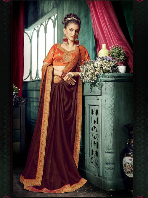 PREMIUM CHIFFON INDIAN SAREE - BT-SR5415