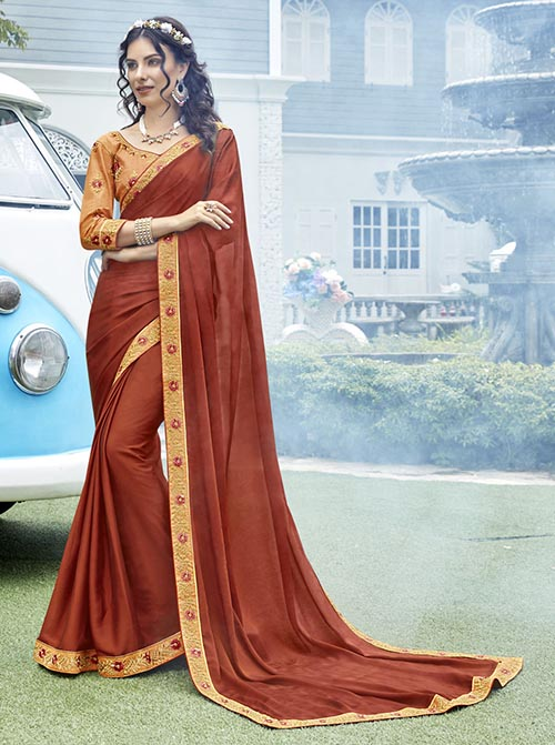 PREMIUM CHIFFON INDIAN SAREE - BT-SR5553