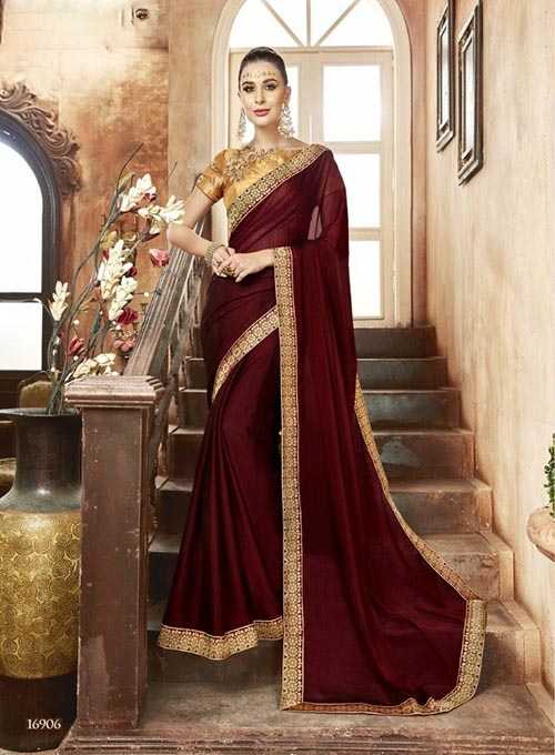 PREMIUM CHIFFON INDIAN SAREE - BT-SR5536