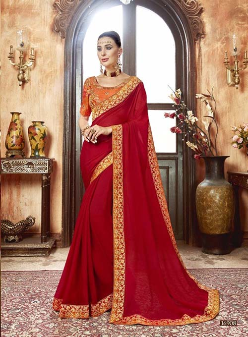 PREMIUM CHIFFON INDIAN SAREE - BT-SR5538