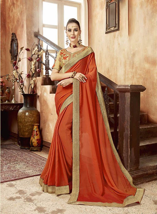 PREMIUM CHIFFON INDIAN SAREE - BT-SR5541