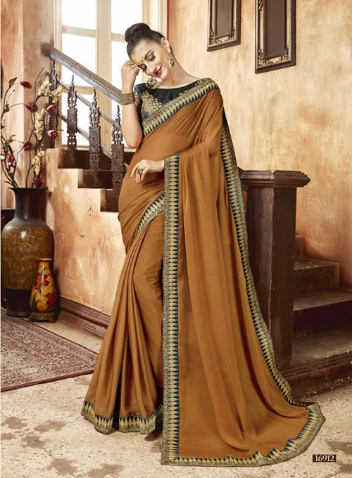 PREMIUM CHIFFON INDIAN SAREE - BT-SR5542
