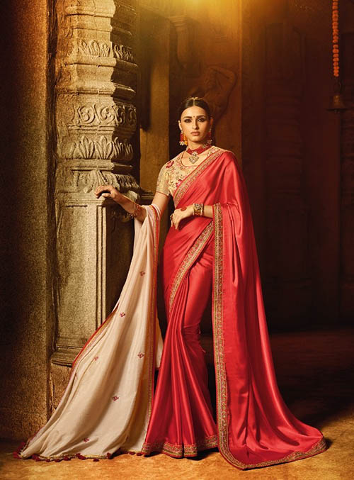 PARTY WEAR INDIAN SILK SAREE - BT-SR5484