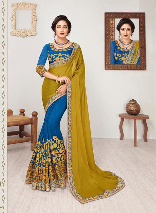 PARTY WEAR INDIAN SILK SAREE - BT-SR5453