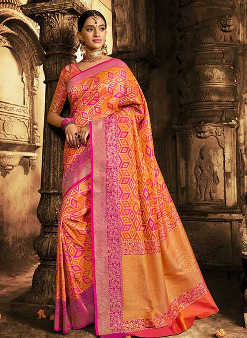 BARANASI SILK INDIAN SAREE - BT-SR5401