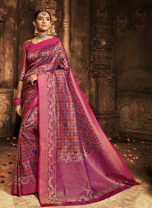 BARANASI SILK INDIAN SAREE - BT-SR5405