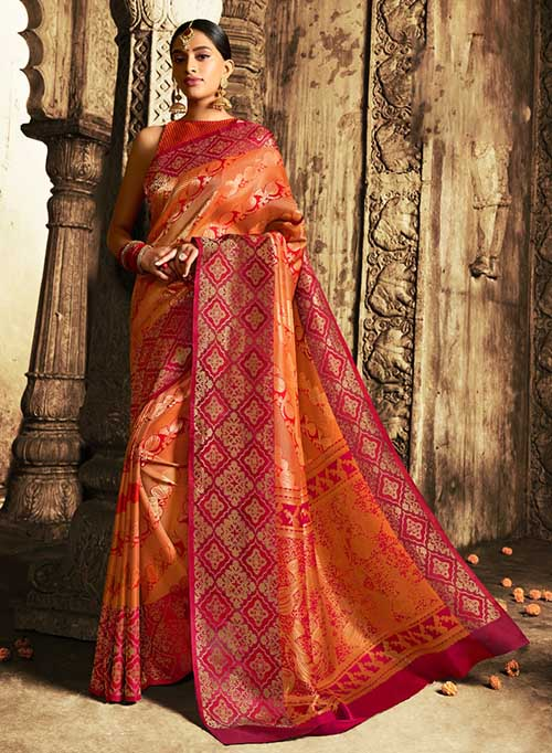 BARANASI SILK INDIAN SAREE - BT-SR5410