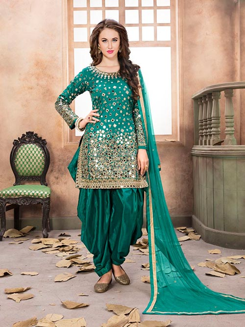 DESIGNER INDIAN SALWAR KAMEEZ - BT-SK-R-3612-XL