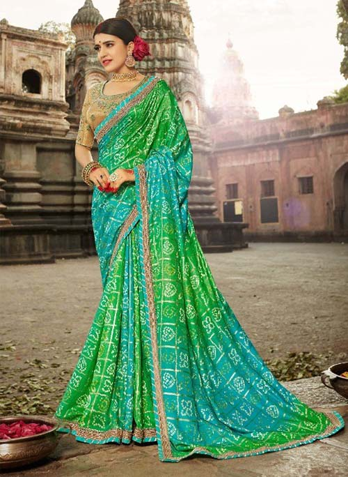 PARTY-WEAR-INDIAN SILK SAREE - BT-SR-40002