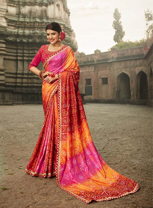 PARTY-WEAR-INDIAN SILK SAREE - BT-SR-40003