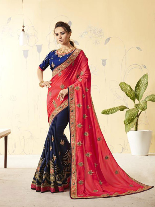 PARTY WEAR INDIAN GEORGETTE SAREE - BT-SR5431