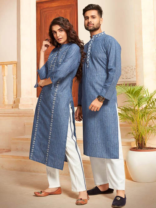 DESIGNER INDIAN KURTA PAJAMA-BT-KP-600036-M