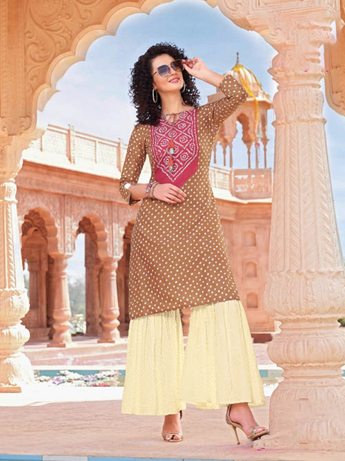 DESIGNER INDIAN KURTI - BT-K-R-90012-M