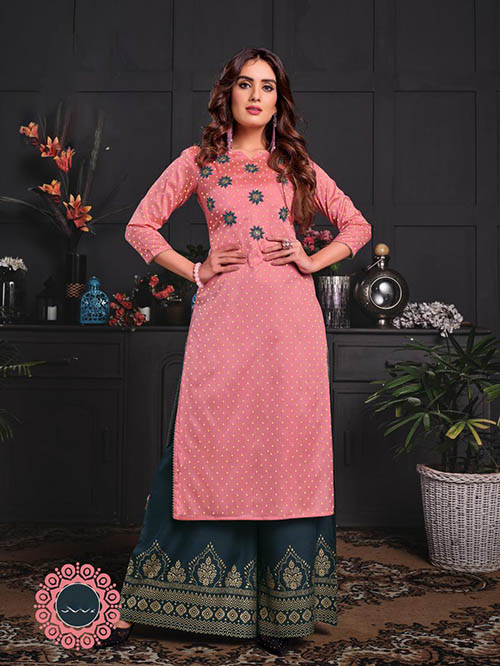 DESIGNER INDIAN KURTI - BT-K-R-90031-M