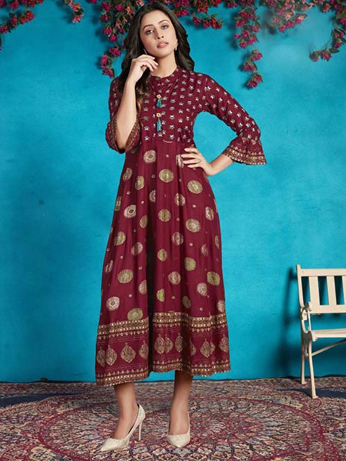DESIGNER INDIAN KURTI - BT-K-R-90051-M