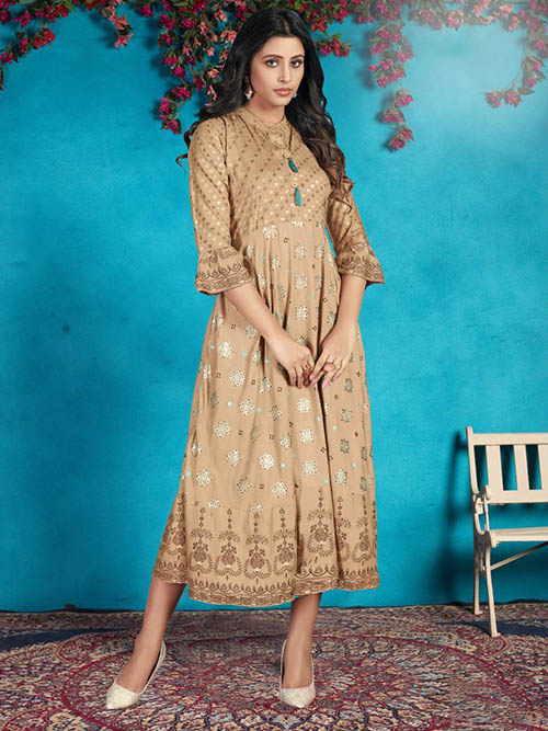 DESIGNER INDIAN KURTI - BT-K-R-90053-M