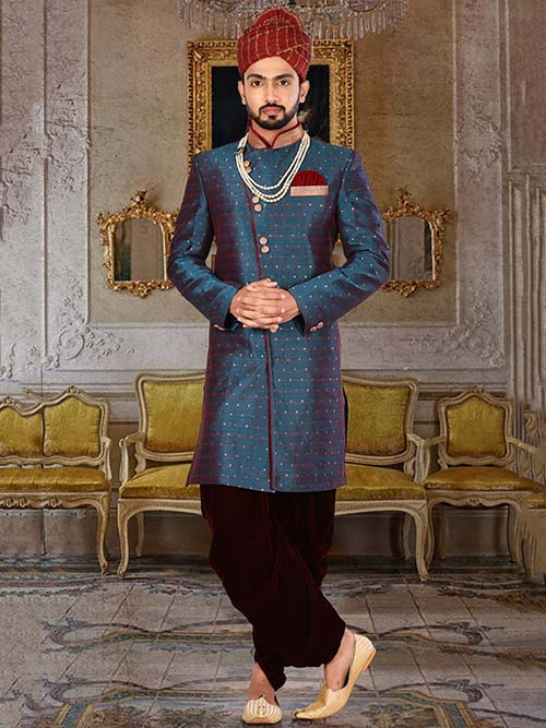 DESIGNER INDIAN SHERWANI-600021-XXL