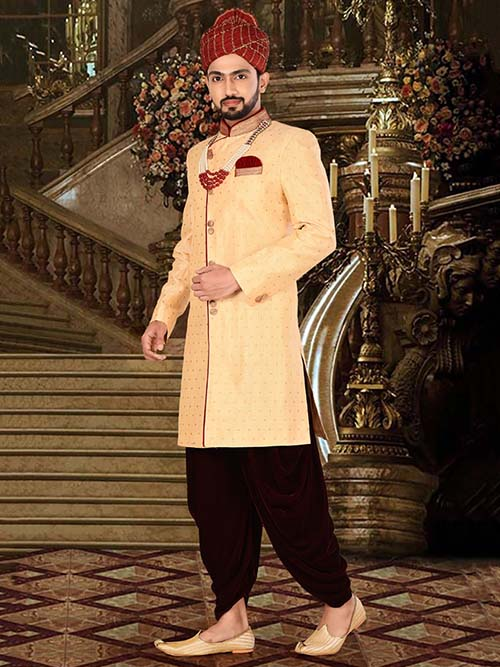 DESIGNER INDIAN SHERWANI-600022-XL