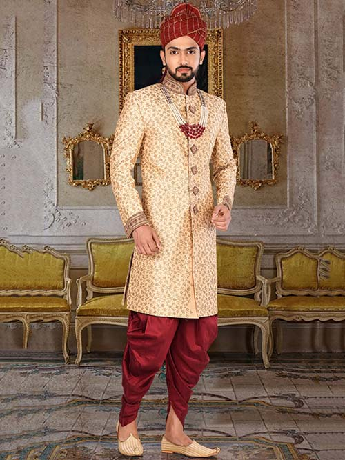 DESIGNER INDIAN SHERWANI-600024-XXL
