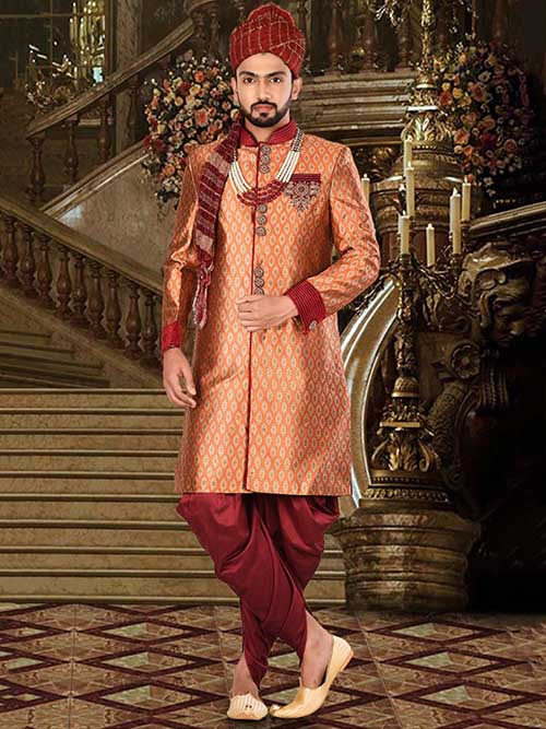 DESIGNER INDIAN SHERWANI-600026-XL