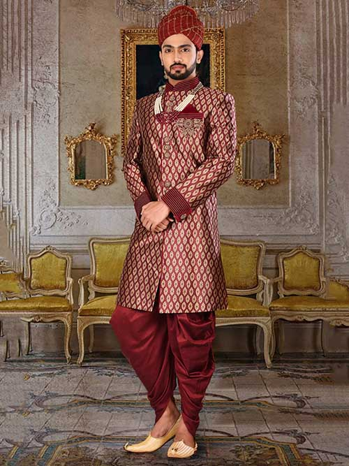 DESIGNER INDIAN SHERWANI-600027-XXL