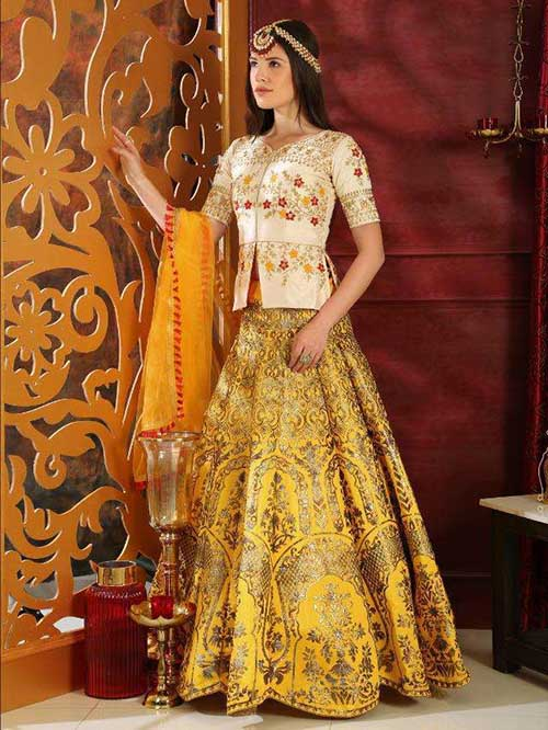 BEAUTIFUL INDIAN LEHENGA CHOLI - BT-LH-R-10209-3XL