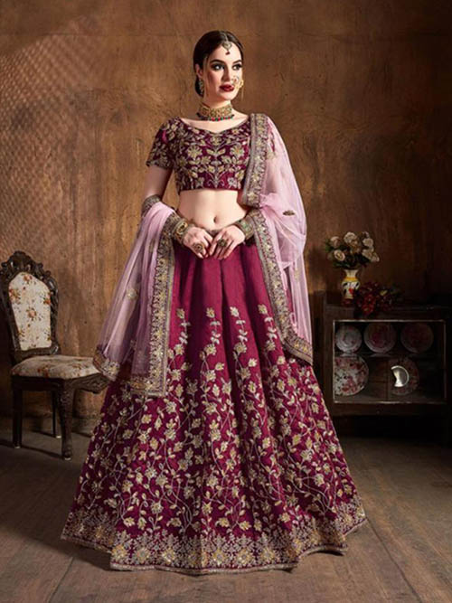 BEAUTIFUL INDIAN LEHENGA CHOLI - BT-LH-R-10212-XXL