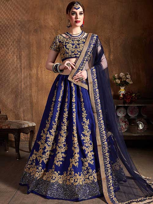 BEAUTIFUL INDIAN LEHENGA CHOLI - BT-LH-R-10231-XXL