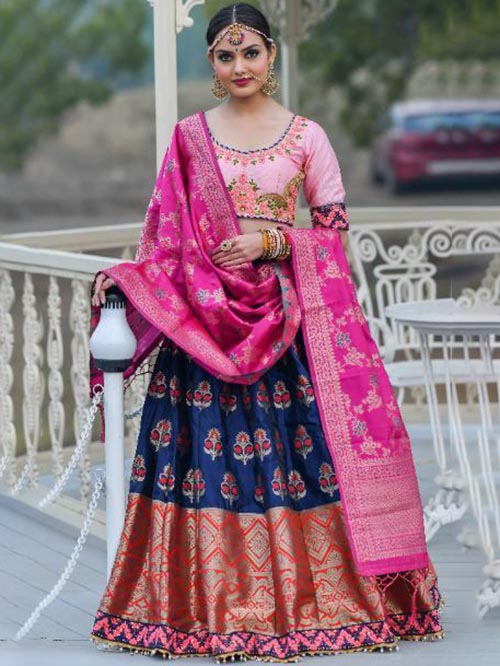 BEAUTIFUL INDIAN LEHENGA CHOLI - BT-LH-R-10255-L