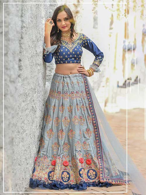 BEAUTIFUL INDIAN LEHENGA CHOLI - BT-LH-R-10262-XL