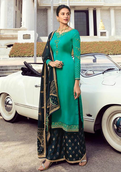 DESIGNER INDIAN SALWAR KAMEEZ - BT-SK-R-30195-L
