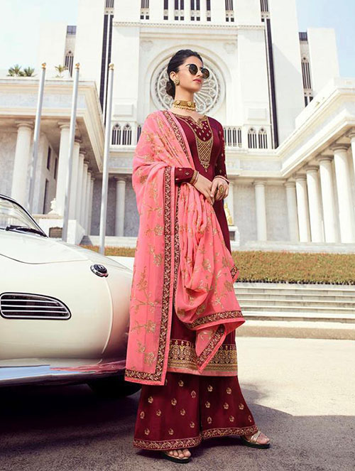 DESIGNER INDIAN SALWAR KAMEEZ - BT-SK-R-30199-L