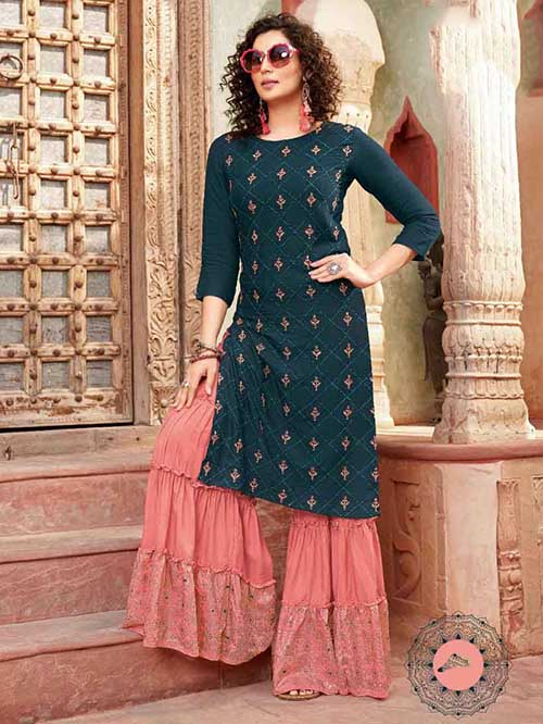 DESIGNER INDIAN SALWAR KAMEEZ - BT-SK-R-30412-3XL