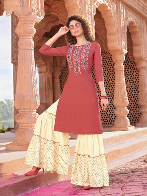 DESIGNER INDIAN KURTI - BT-K-R-90001-M
