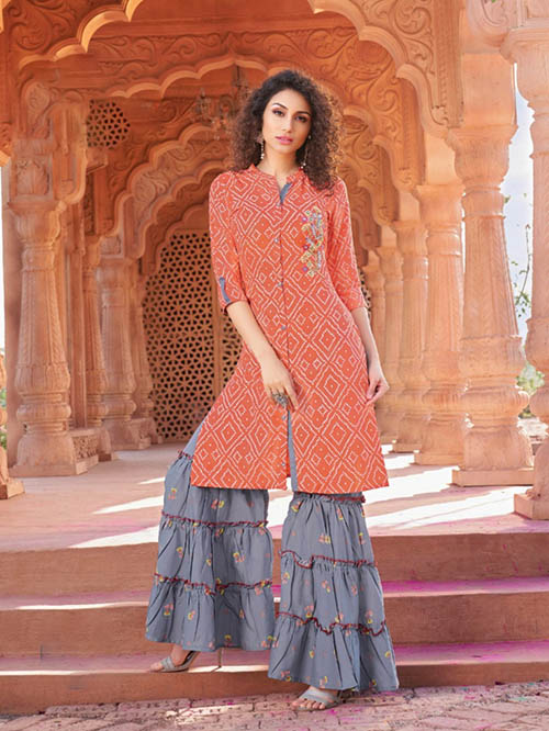 DESIGNER INDIAN KURTI - BT-K-R-90005-M